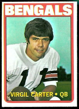 Virgil Carter 1972 Topps football card