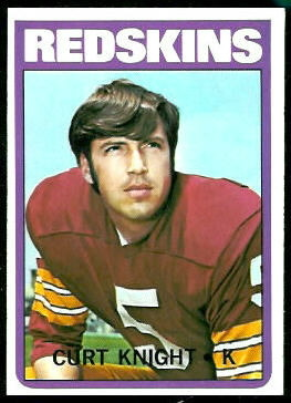 Curt Knight 1972 Topps football card