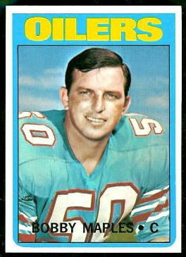 Bobby Maples 1972 Topps football card