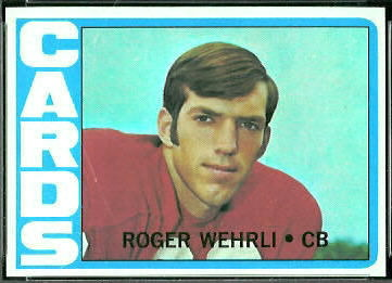 Roger Wehrli 1972 Topps football card