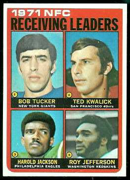 1971 NFC Receiving Leaders 1972 Topps football card