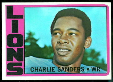 Charlie Sanders 1972 Topps football card