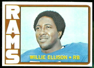 Willie Ellison 1972 Topps football card