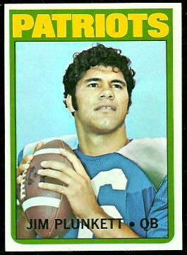 Jim Plunkett 1972 Topps football card