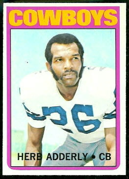 Herb Adderley 1972 Topps football card
