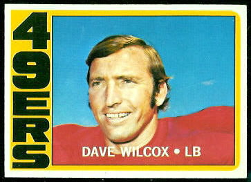Dave Wilcox 1972 Topps football card