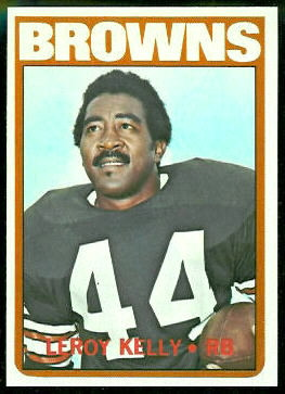Leroy Kelly 1972 Topps football card