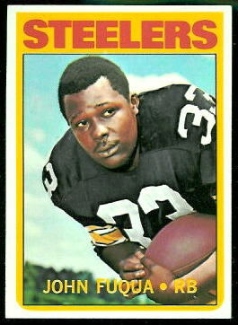 John Fuqua 1972 Topps football card
