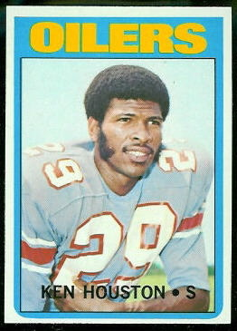 Ken Houston 1972 Topps football card