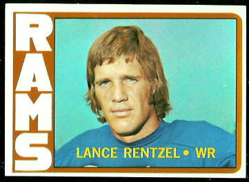 Lance Rentzel 1972 Topps football card