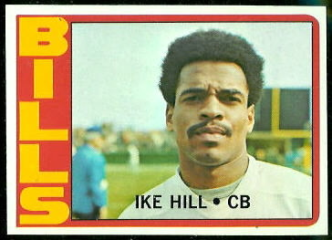 Ike Hill 1972 Topps football card