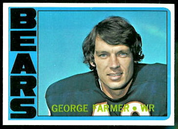 George Farmer 1972 Topps football card