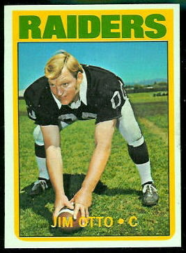 Jim Otto 1972 Topps football card