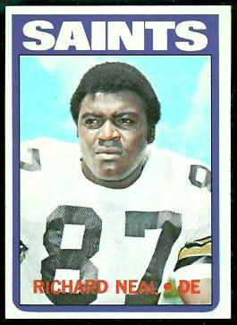 Richard Neal 1972 Topps football card