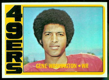Gene Washington 1972 Topps football card
