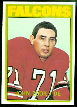 John Zook 1972 Topps football card