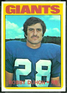 Bobby Duhon 1972 Topps football card
