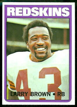 Larry Brown 1972 Topps football card