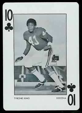 Tyrone King 1973 Alabama Playing Cards football card