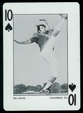 Bill Davis 1973 Alabama Playing Cards football card