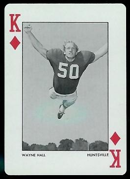 Wayne Hall 1973 Alabama Playing Cards football card