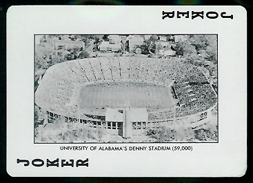 Denny Stadium 1973 Alabama Playing Cards football card