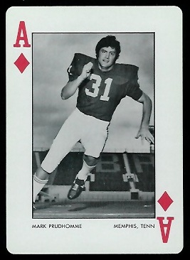 Mark Prudhomme 1973 Alabama Playing Cards football card