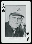 1973 Alabama Playing Cards Bear Bryant