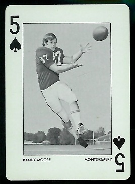 Randy Moore 1973 Alabama Playing Cards football card