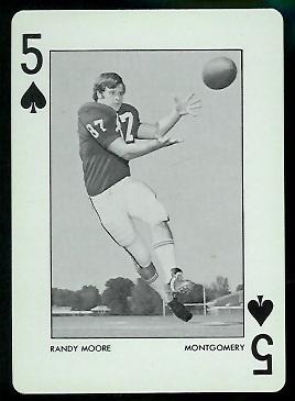 Randy Moore 1973 Alabama Playing Cards football card