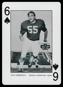 Ron Robertson 1973 Alabama Playing Cards football card