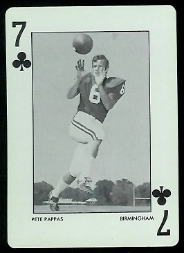 Pete Pappas 1973 Alabama Playing Cards football card