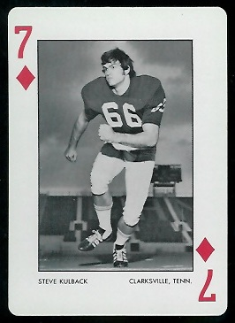 Steve Kulback 1973 Alabama Playing Cards football card