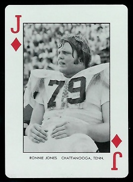 Ronnie Jones 1973 Auburn Playing Cards football card
