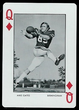 Mike Gates 1973 Auburn Playing Cards football card
