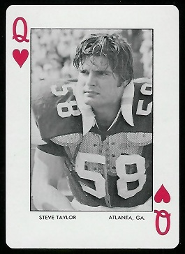 Steve Taylor 1973 Auburn Playing Cards football card
