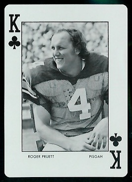 Roger Pruett 1973 Auburn Playing Cards football card