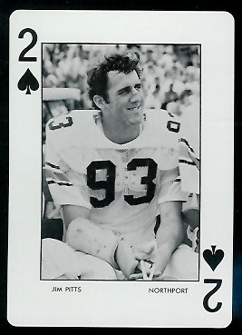 Jim Pitts 1973 Auburn Playing Cards football card