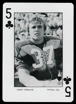 Jimmy Sirmans 1973 Auburn Playing Cards football card