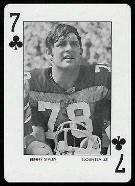 Benny Sivley 1973 Auburn Playing Cards football card