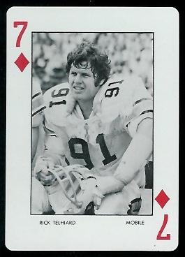 Rick Telhiard 1973 Auburn Playing Cards football card
