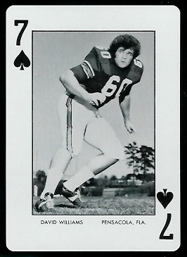 David Williams 1973 Auburn Playing Cards football card