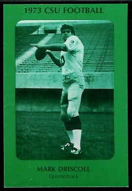 Mark Driscoll 1973 Colorado State football card