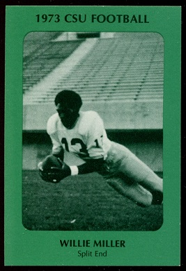 Willie Miller 1973 Colorado State football card