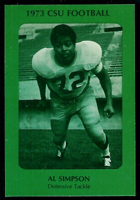 Al Simpson 1973 Colorado State football card
