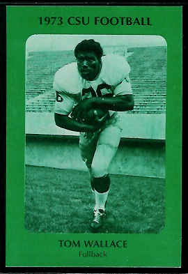 Tom Wallace 1973 Colorado State football card