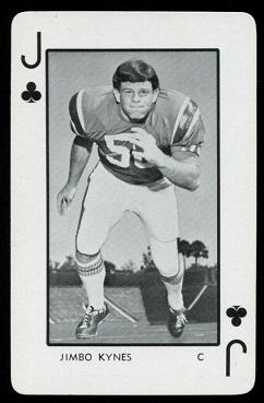 Jimbo Kynes 1973 Florida Playing Cards football card