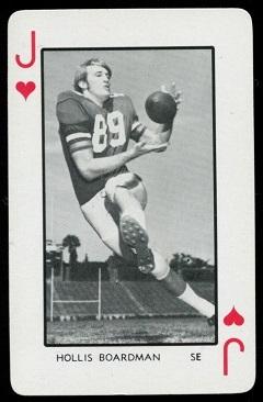 Hollis Boardman 1973 Florida Playing Cards football card