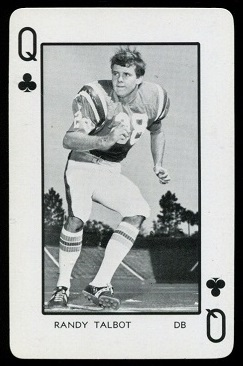 Randy Talbot 1973 Florida Playing Cards football card