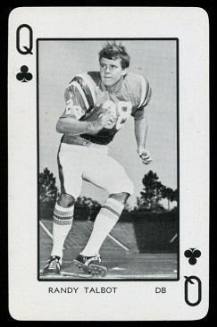 Randy Talbot 1973 Florida Playing Cards football card